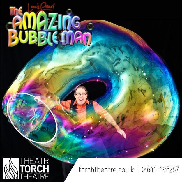 Amazing Bubble Man at Torch Theatre